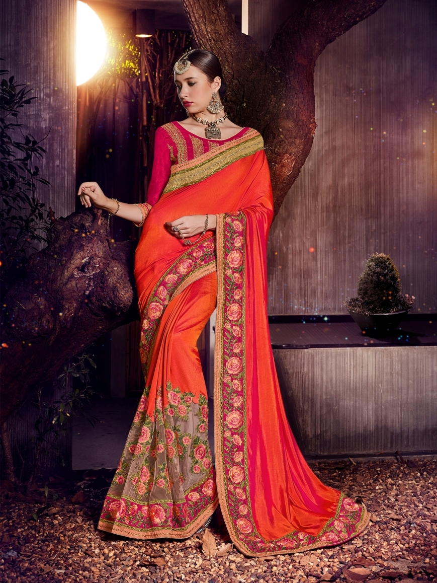 0011597_indian-women-orange-and-paper-silk-saree