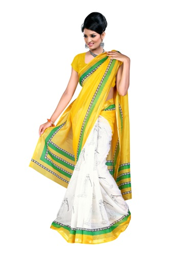 Kosa-Sarees-Yellow-And-White-Printed-Kosa-Silk-Saree-06